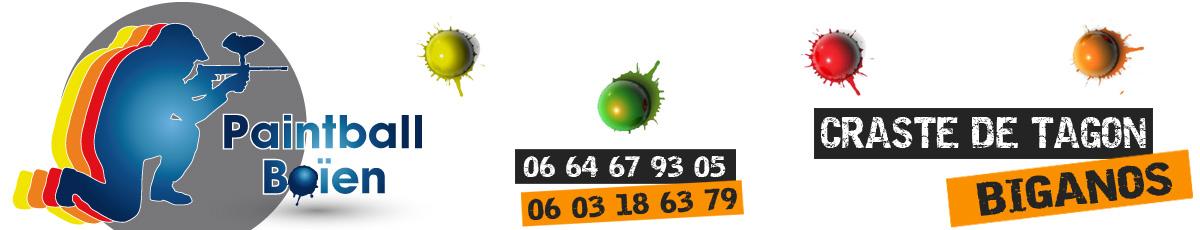 Paintball Boïen – Biganos – Bassin d'Arcachon – Gironde – 33 logo
